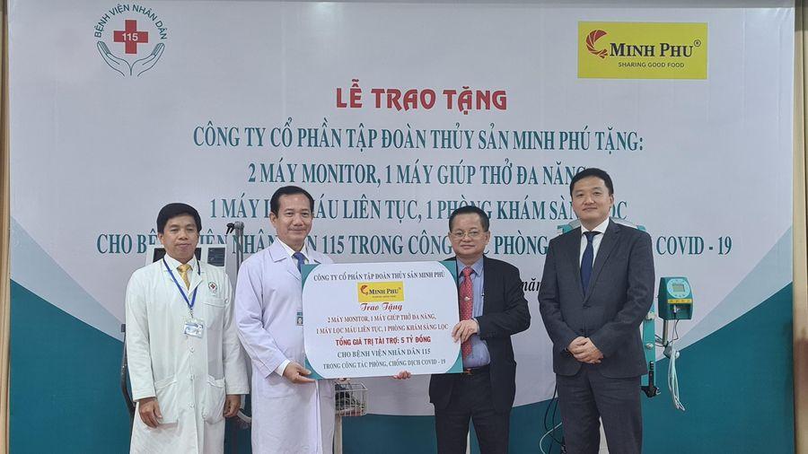 Trao thiết bị y tế phòng chống dịch trị giá 5 tỷ đồng cho Bệnh viện Nhân dân 115