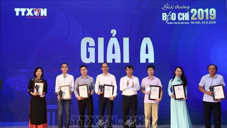 65 tác phẩm nhận Giải Báo chí Thông tấn xã Việt Nam 2019