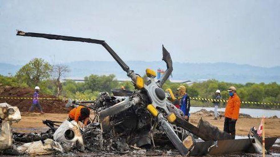 Trực thăng quân sự rơi ở Indonesia, 4 binh sĩ tử nạn