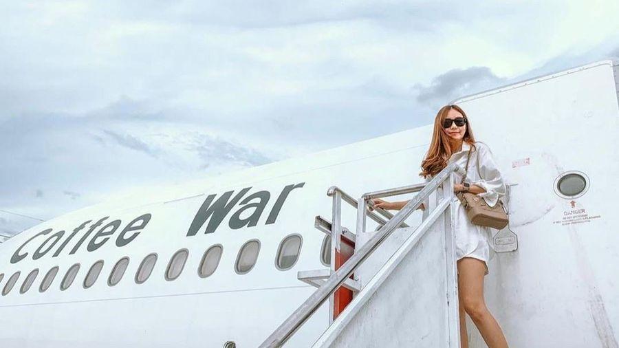 Uống cà phê, chụp ảnh sống ảo bên trong máy bay ở Thái Lan