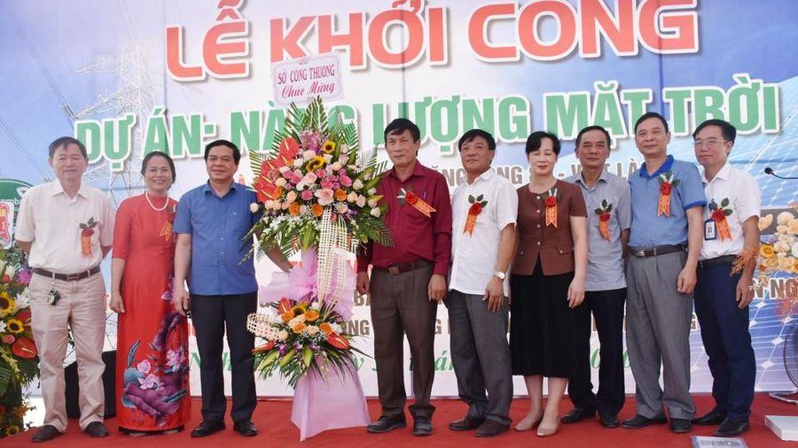 Khởi công dự án Điện mặt trời áp mái tại chợ đầu mối nông sản Nghệ An