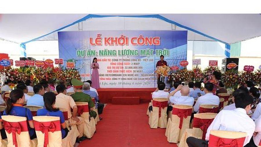 Nghệ An: Khởi công xây dựng dự án điện năng lượng mặt trời