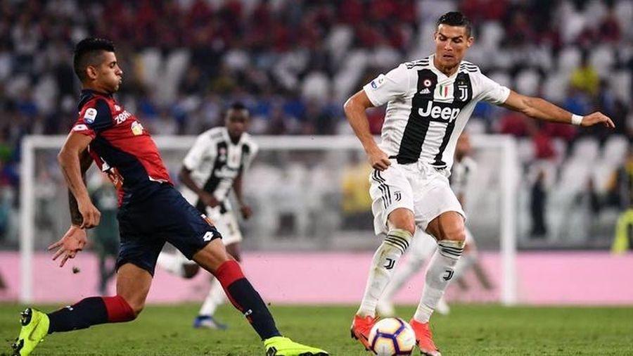 Trực tiếp Genoa 0-2 Juventus: Ronaldo ghi siêu phẩm