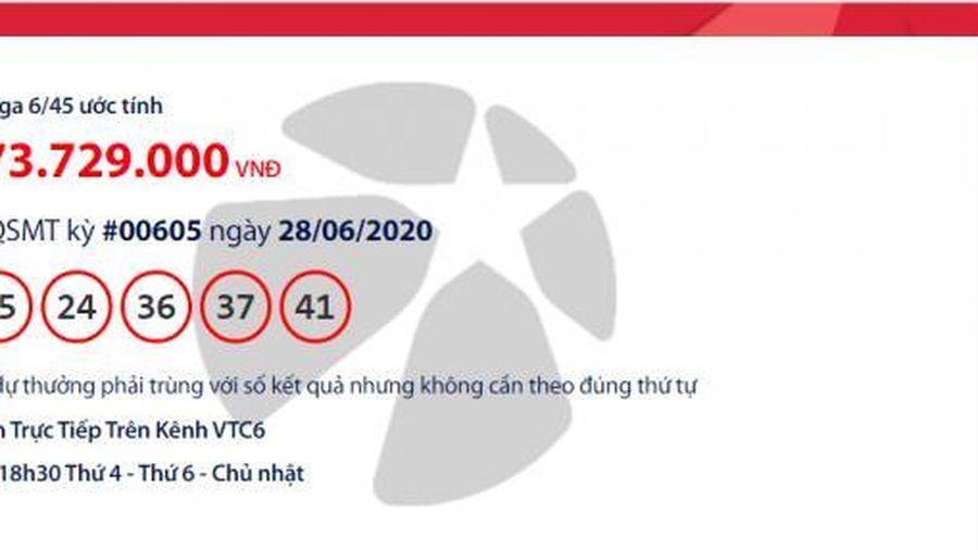 Kết quả xổ số Vietlott Mega 6/45 tối ngày 1/7/2020: Chưa xác định ai trúng hơn 17 tỉ đồng?
