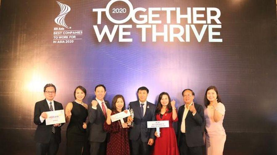 HDBank được vinh danh 'Nơi làm việc tốt nhất châu Á' 3 năm liên tiếp