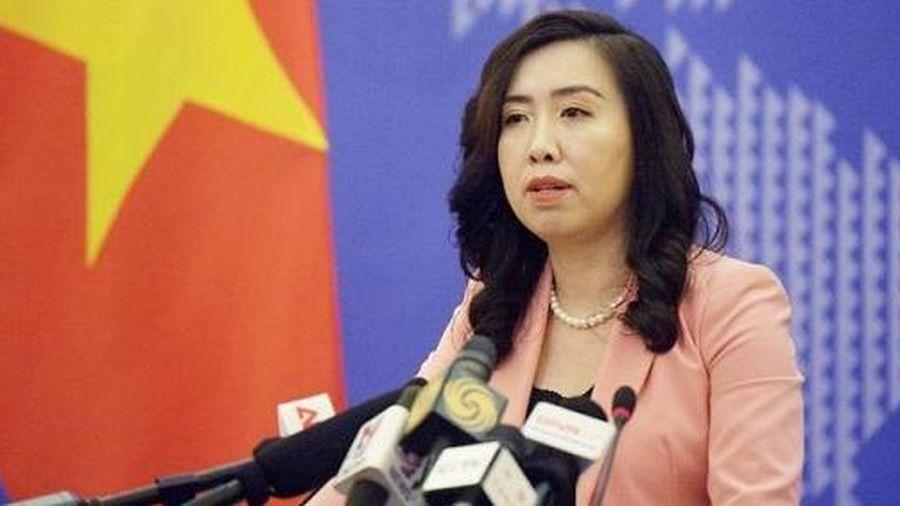Trao công hàm phản đối Trung Quốc tập trận trái phép ở Hoàng Sa