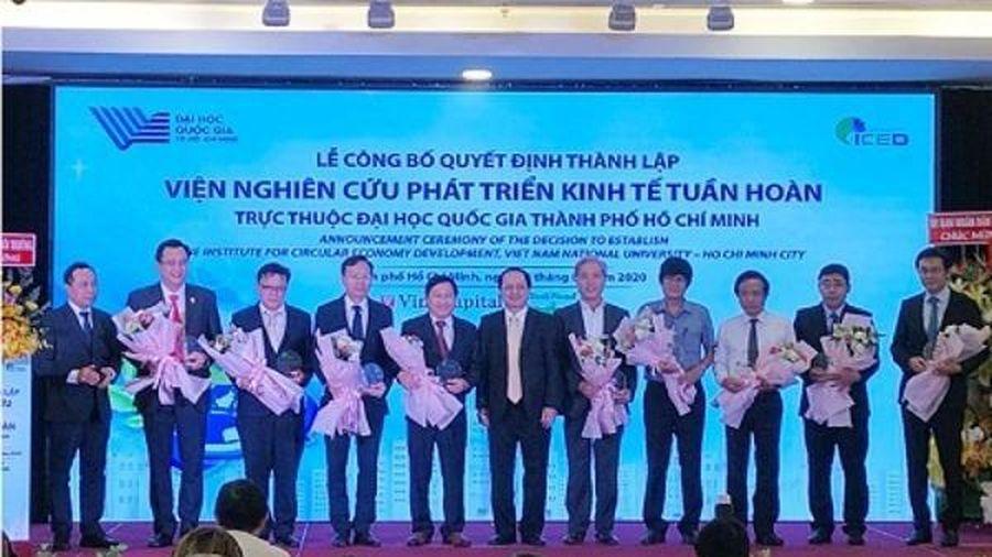 Việt Nam có Viện Nghiên cứu phát triển kinh tế tuần hoàn đầu tiên
