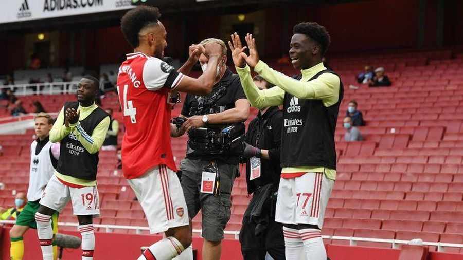 Thắng đậm Norwich, Arsenal nhận tin vui từ ngôi sao Aubameyang