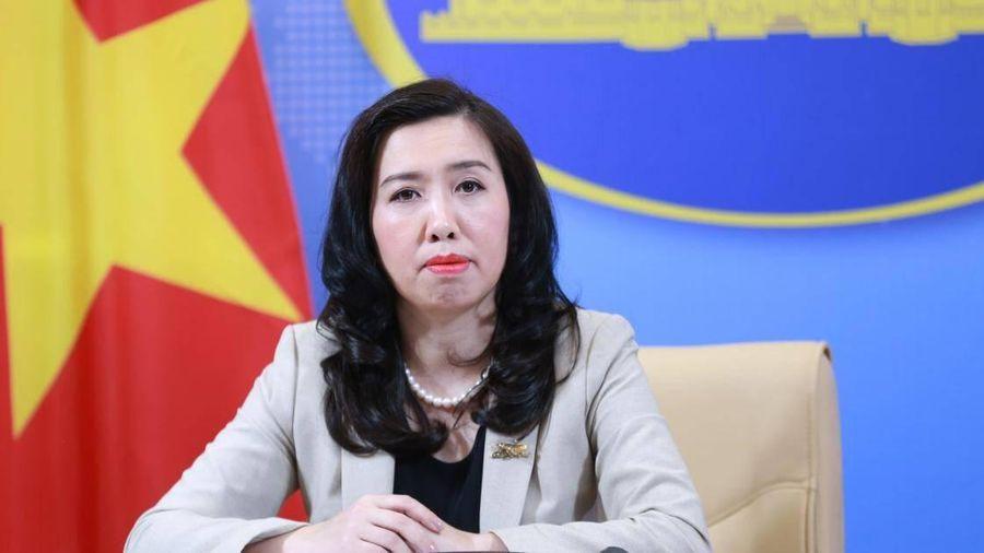 Trao công hàm phản đối Trung Quốc tập trận tại quần đảo Hoàng Sa