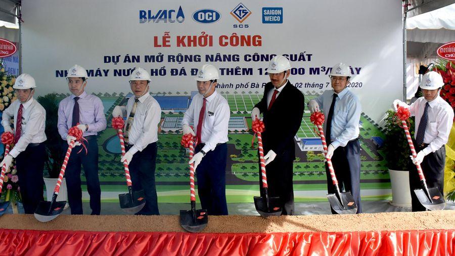 Khởi công dự án mở rộng nâng công suất nhà máy nước Hồ Đá Đen