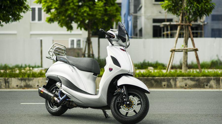 Chi tiết Yamaha Grande độ gần 100 triệu tại Hà Nội, phong cách Vespa