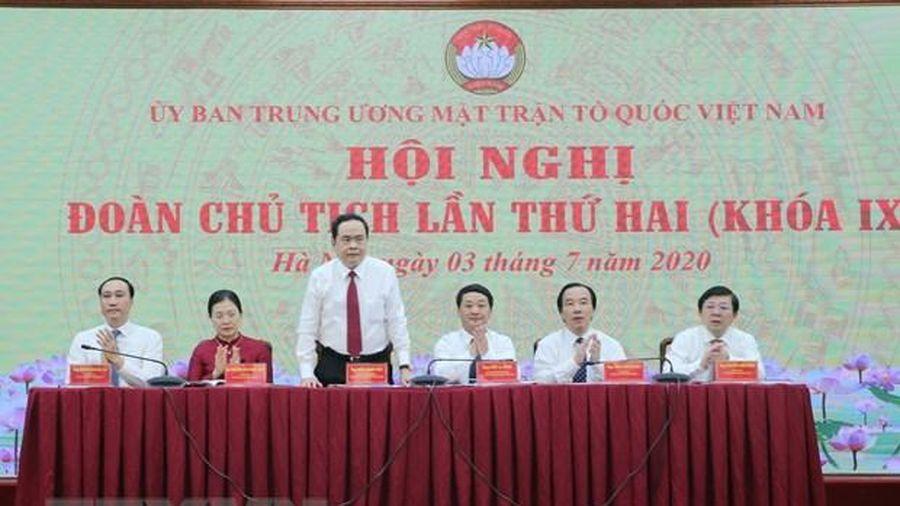 Ban Thường trực Ủy ban Trung ương MTTQVN tổ chức Hội nghị Đoàn Chủ tịch lần II