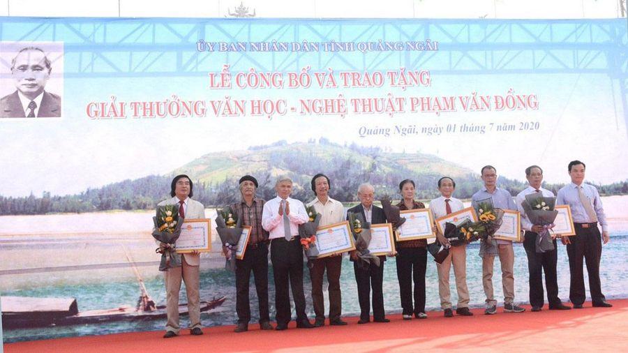 48 tác phẩm, công trình đoạt Giải thưởng Văn học - Nghệ thuật Phạm Văn Đồng