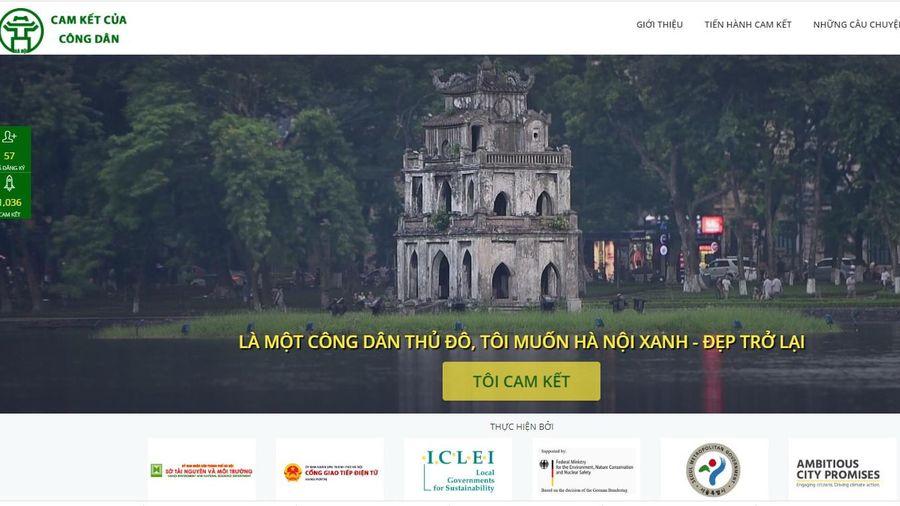 Chính thức ra mắt website 'Cam kết của công dân Hà Nội'