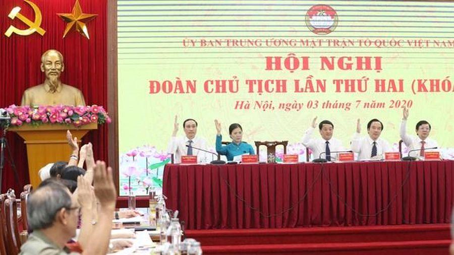 Bế mạc Hội nghị Đoàn Chủ tịch UBTƯ MTTQ Việt Nam lần thứ hai, khóa IX