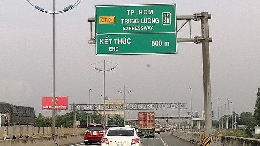 Thu phí trở lại với cao tốc Tp.HCM - Trung Lương