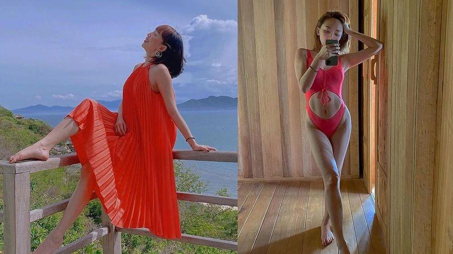 'Ngông' như Tóc Tiên: mặc đồ bơi khoét ngay bụng gián tiếp phủ nhận bầu bí