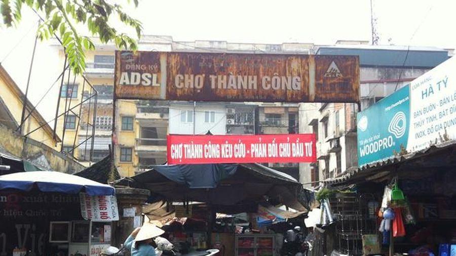 Sau ý tưởng lấp hồ Thành Công, doanh nghiệp lại đề xuất xóa sổ chợ truyền thống
