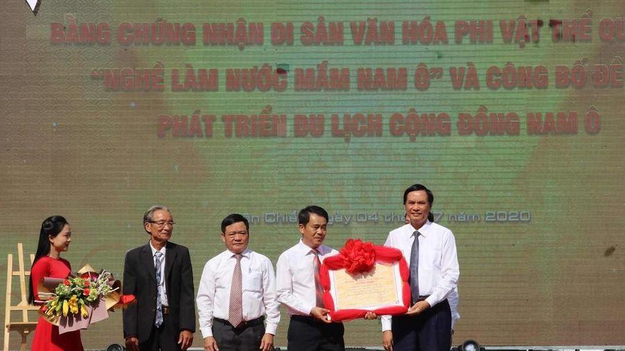 Làng nghề nước mắm Nam Ô đón nhận bằng di sản văn hóa phi vật thể quốc gia