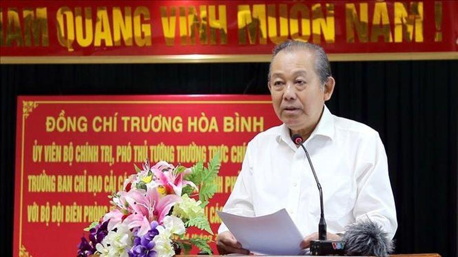 Phó Thủ tướng Trương Hòa Bình làm việc với thành phố Hải Phòng và Bộ Tư lệnh Bộ đội Biên phòng