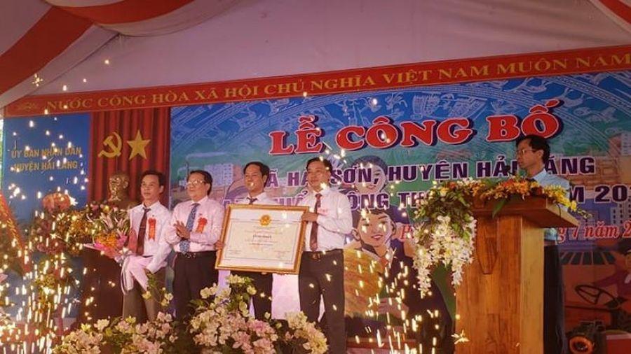 Quảng Trị: Hải Sơn về đích nông thôn mới sau 8 năm thực hiện