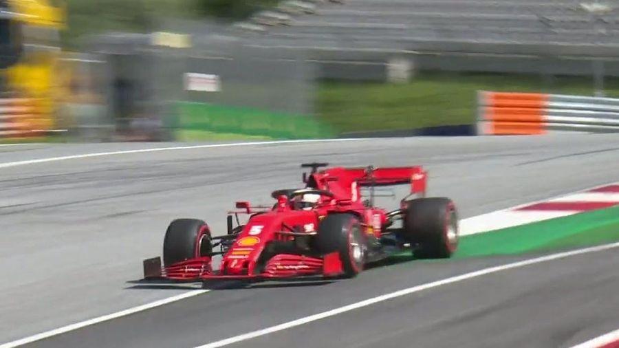 Vettel bị loại ở vòng phân hạng chặng F1 đầu tiên tại Áo