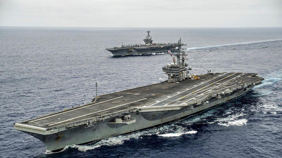 Mỹ điều 2 tàu sân bay tập trận ở Biển Đông