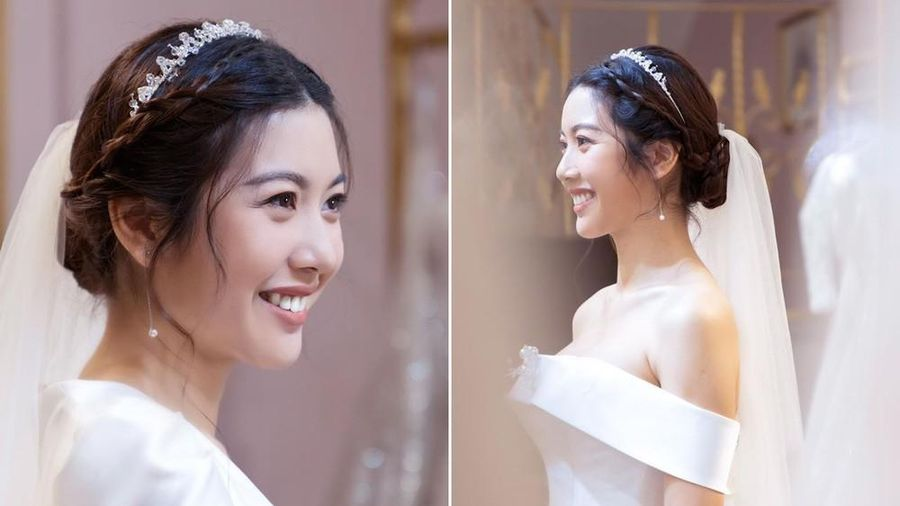 Á hậu Thúy Vân hé lộ ảnh đi thử váy cưới khiến fans trầm trồ vì quá xinh đẹp, gợi cảm