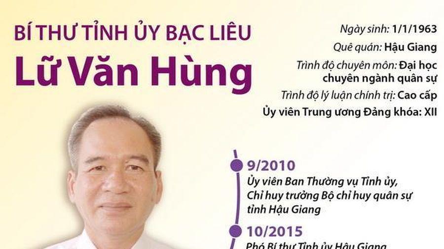 Bí thư Tỉnh ủy Bạc Liêu Lữ Văn Hùng