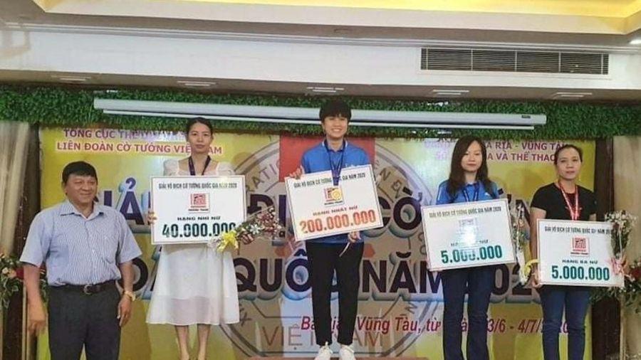 Quảng Ninh lần đầu tiên đoạt chức vô địch cờ tiêu chuẩn nữ