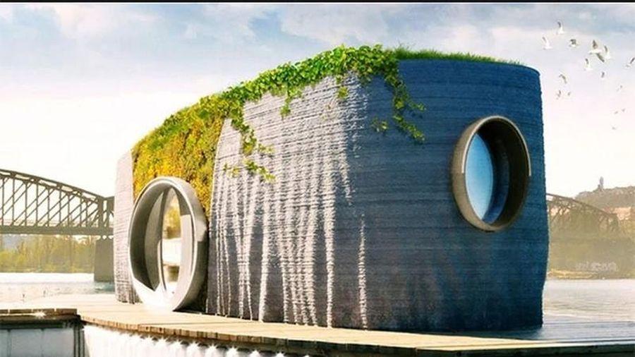 Ngôi nhà nổi trên sông hoàn thành sau 48 giờ bằng công nghệ in 3D