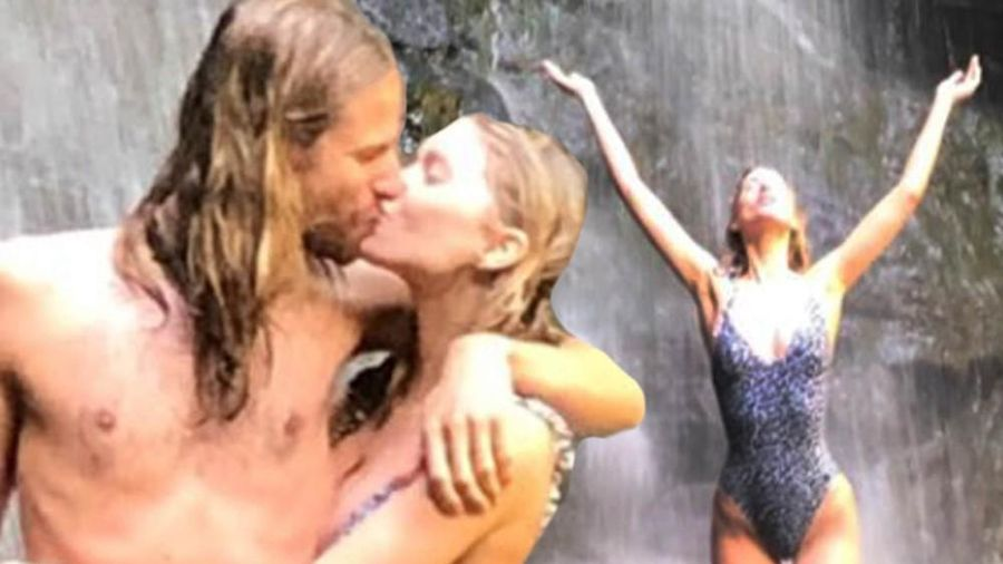 Elsa Hosk khoe dáng búp bê hoàn hảo, 'khóa môi' người tình bên thác nước