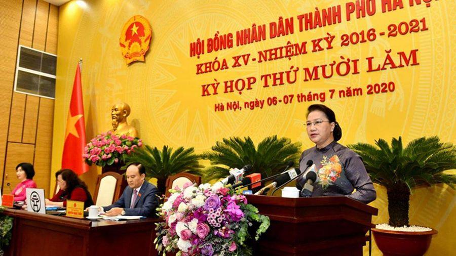 Chủ tịch Quốc hội đề nghị Hà Nội tập trung làm tốt 5 nội dung