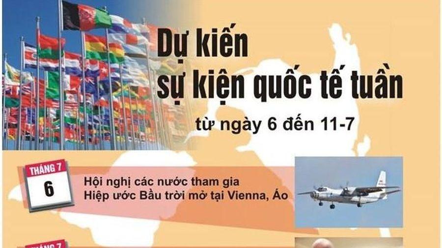 Dự kiến sự kiện quốc tế tuần tới (từ ngày 6 đến 11/7)