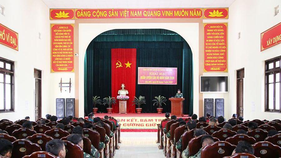 Ban CHQS huyện Vân Đồn: Huấn luyện cán bộ dự bị động viên