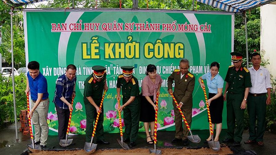 Ban CHQS TP Móng Cái xây dựng nhà tình nghĩa tặng cựu chiến binh