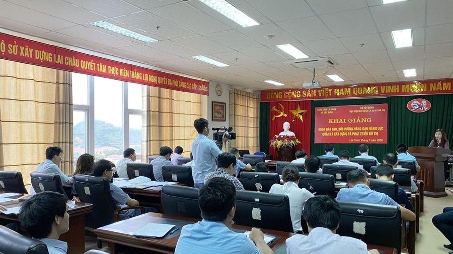 Gần 80 cán bộ tỉnh Lai Châu được đào tạo chuyên sâu về quản lý xây dựng và phát triển đô thị theo Đề án 1961