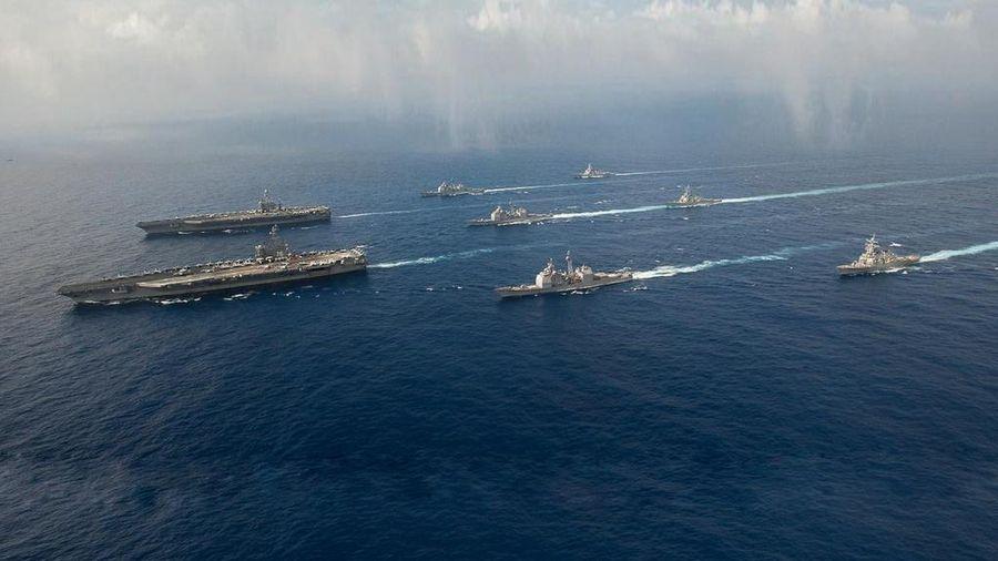 Mỹ điều 2 tàu sân bay tập trận ở Biển Đông, Trung Quốc tố 'khoe cơ bắp'