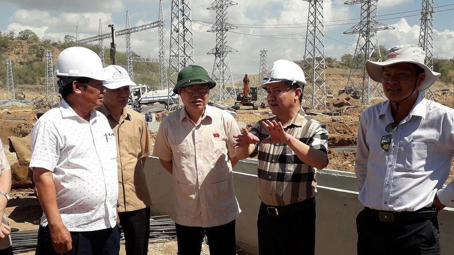 Đoàn công tác Quốc hội kiểm tra dự án truyền tải điện 500kV