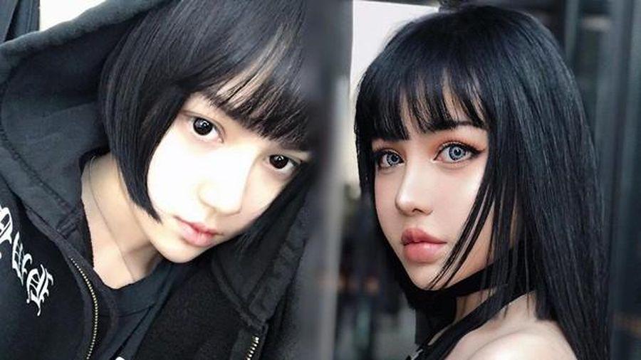 Ngỡ ngàng mặt mộc của 'búp bê sống' Kina She với vẻ đẹp siêu thực