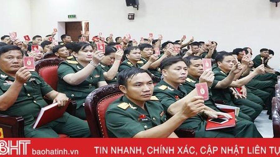 Đảng ủy Quân sự Hà Tĩnh thực hiện tốt công tác chuẩn bị và tổ chức đại hội Đảng