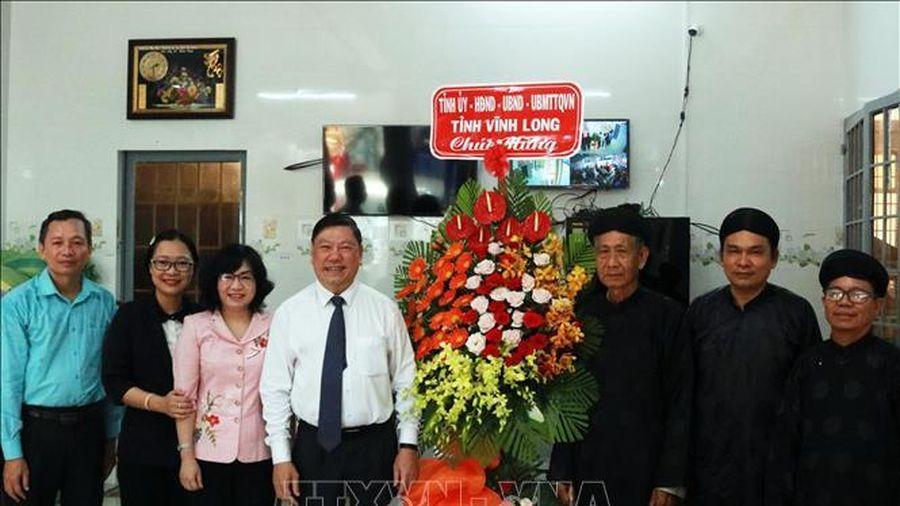 Thăm, chúc mừng nhân dịp 81 năm Ngày khai sáng đạo Phật giáo Hòa Hảo