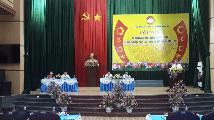 MTTQ huyện Vĩnh Lộc tổ chức hội nghị điển hình tiên tiến, giai đoạn 2015 – 2020