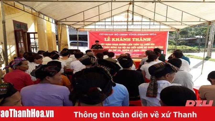 Bộ CHQS tỉnh Thanh Hóa: Khánh thành và bàn giao công trình nông thôn mới