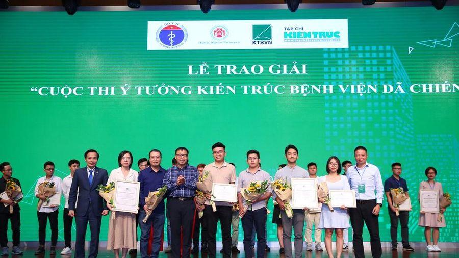 'Cú đúp' giải thưởng của sinh viên ĐH Kiến trúc tại cuộc thi thiết kế bệnh viên dã chiến