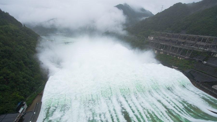 Đập thủy điện Tân An Giang mở 9 cửa xả lũ