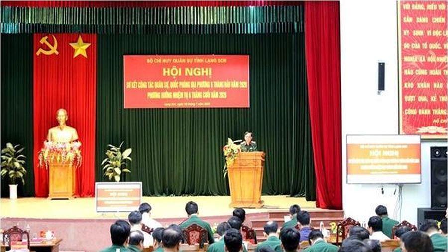 Lạng Sơn sơ kết 6 tháng công tác quân sự, quốc phòng