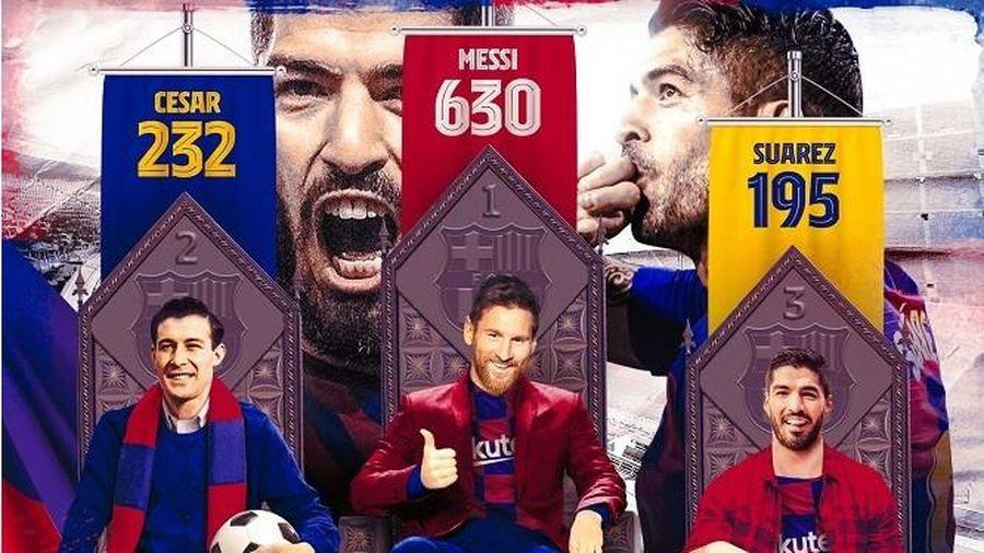 Ghi bàn duy nhất, Luis Suarez đi vào lịch sử Barcelona