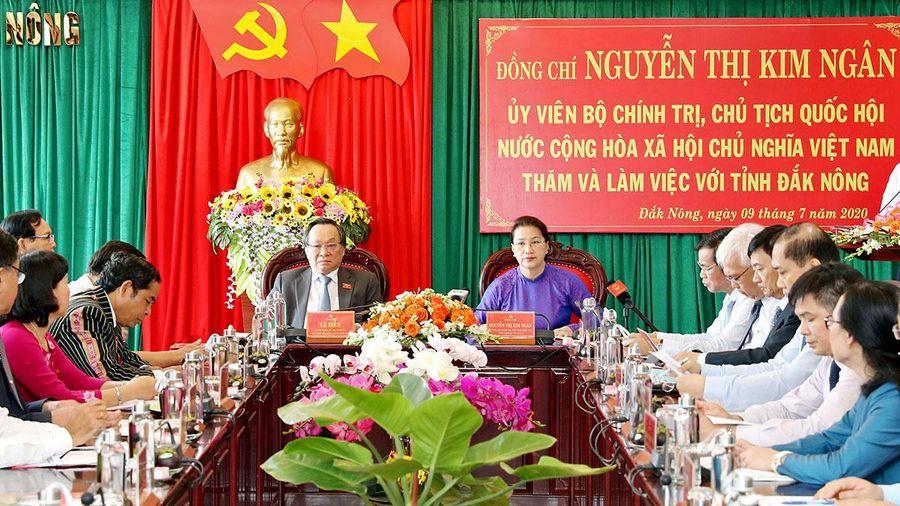 Chủ tịch Quốc hội: Đắk Nông cần tăng cường biện pháp, không để bệnh bạch hầu lan rộng