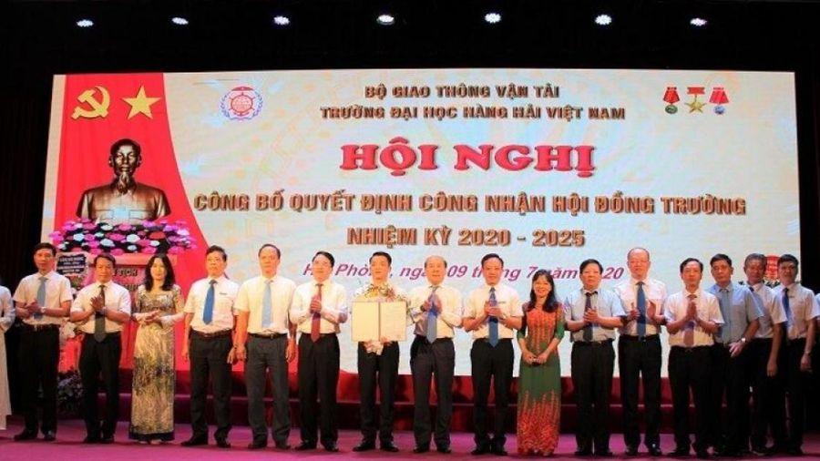 Công bố Quyết định công nhận Hội đồng trường đại học Hàng hải Việt Nam